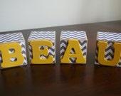Custom order - baby name blocks