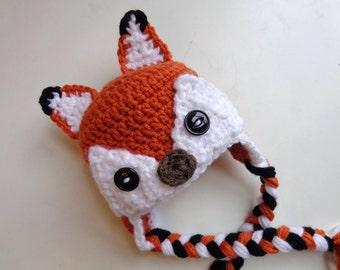 Newborn Crochet Fox Hat- What does the fox say?- Photo Prop