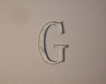 12-inch Distressed Wood Letter G or ANY Letter Wall Hanging Monogram Initial