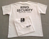 RING SECURITY Personalized Ring Bearer Wedding T-Shirt