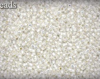 15/0 TOHO seed beads 10g Toho beads 15/0 seed beads Milky White 15-2100 White seed beads