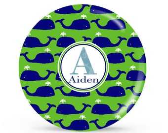 Personalized Plate - Whale - Personalized Plate for Kids