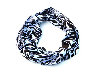 Hot Cocoa ,black,white,brown  Infinity Scarf