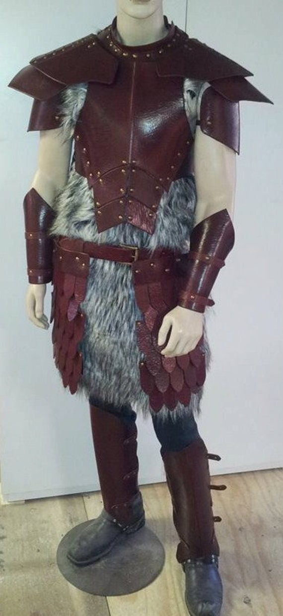 Leather Armor Barbarian Set