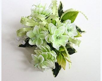 Faux Corsage - Wedding Corsage - Anniversary Corsage - Prom Corsage - Mother's Day Corsage - Variegated Hops Corsage