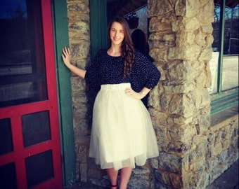 Savannah - Custom Hand-Made Womens Tulle Skirt