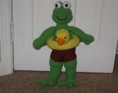 Frog with life saver pattern pdf file