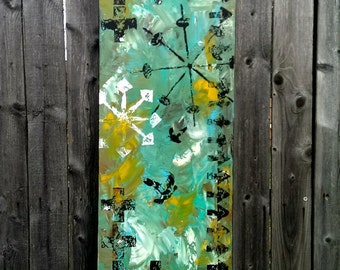 On My Trail | 12x36 | Original Abstract Acrylic Painting by Brad Brunstetter
