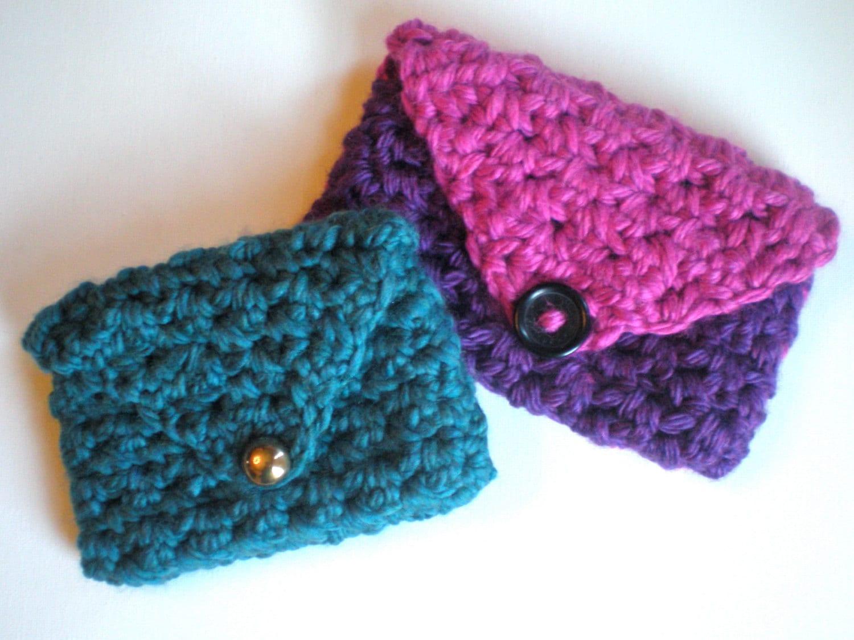 Easy Crochet Pouch Pattern : PATTERN: Clutch Purse wallet Easy Crochet P D F chunky