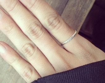 C4 handmade sterling silver ring