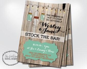 stock the bar  etsy, invitation samples