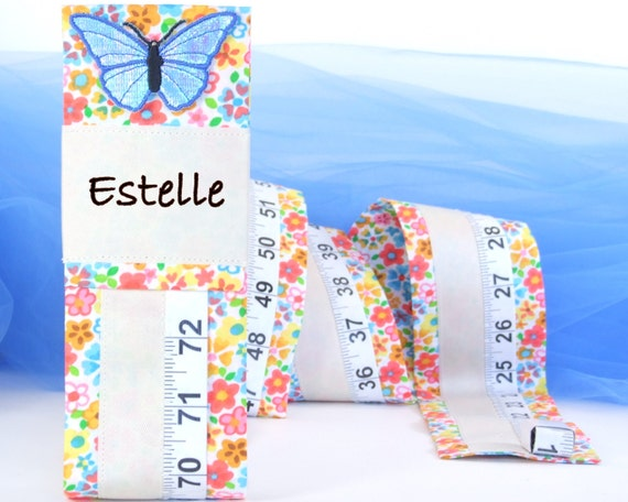 BABY GIRL KEEPSAKE - Flower Print Growth Chart - Fabric Growth Chart - Baby Shower