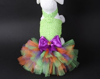 HALLOWEEN Dog Tutu Dress -- Ghoulish Green