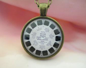 Glass Cabochon Vintage Viewfinder Necklace