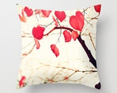 Pillow cover, fall pillow, red pillow, white pillow,yellow pillow,office decor,dorm decor,tree pillow,pink pillow,coral pillow,kids art
