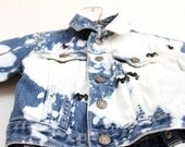 Spider acid wash denim , children's OshKosh jacket, napkin