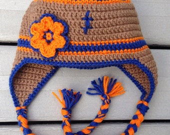 Denver Bronco Football Boy or Girl Ear-flap Hat - *All Sizes!!