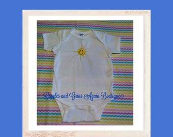 Little Summer Sunshine Embroidered Bodysuit - 3 to 24 months