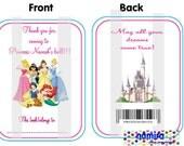 Disney Princesses Happy BIrthday Printable Personalized Coloring Book - Party Favor
