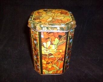 Collectible Tin Tea Caddy