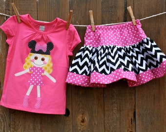 Bella Mouse Shirt and Skirt