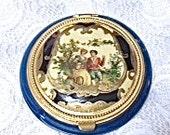 Sale:1920's Blue Bakelite Compact