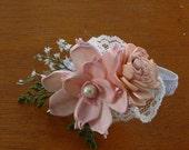 Wedding, Corsage, Sola  Wood Corsage,Corsage,Vintage wrist corsage, Sola Bouquet