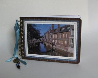 Cambridge England post card journal