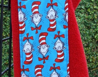 Cat in the Hat Children's Hooded Bath Towel, Bright Red Towel, Made in the USA!