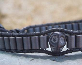 Hematite Skull Men's wrap