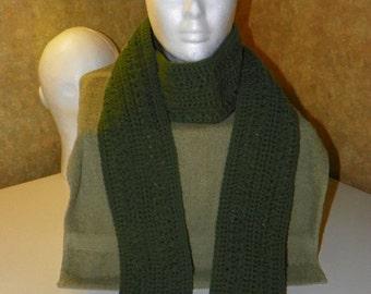 X long Skinny scarf with loop fringe