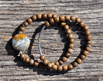 Set of 2 Rustic Boho Beaded Bracelets by BeadRustic   FREE SHIPPING