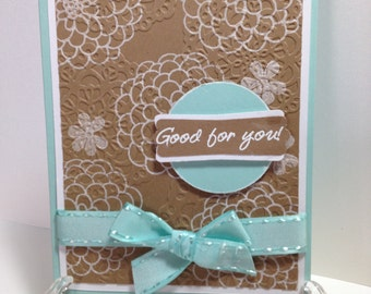 Good for You, Congratulations Handmade Card