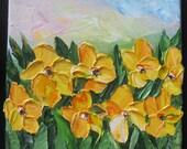Oil Painting -Irises-3, Impasto ART by Trupti Vakharia