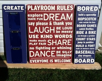 Playroom Sign Display