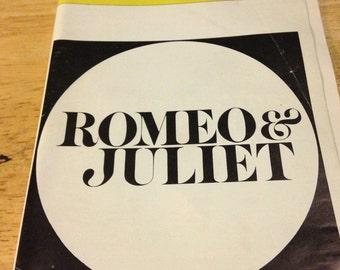 Romeo & Juliet Playbill - 1977
