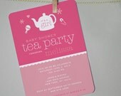 Personalized PRINTABLE Tea Party Baby Shower Invitation