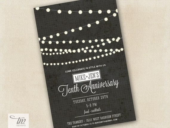 Custom Party String Lights : Items similar to Personalized Printable String Lights Party Invitation on Etsy