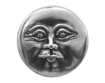 Danforth Full Moon 7/8 inch ( 22 mm ) Pewter Shank Button