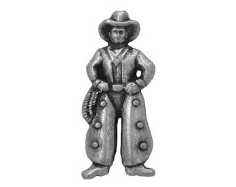 2 Cowboy 1 and 1/8 inch ( 28 mm ) Metal Buttons Silver Color