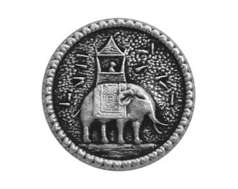 6 Howdah Elephant 9/16 inch (15 mm ) Metal Buttons