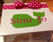 Personalized children's stepping stool