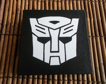 Transformers Autobots 6x6 Acrylic Painting
