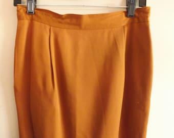 Vintage Skirt. Vintage Clothes. Pencil Skirt. Lauren Alexandra.1960s. Designer Vintage. Wiggle Skirt. Knee Length.Fall Colors.Rust.