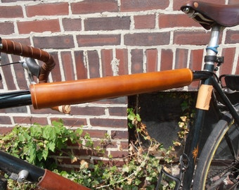 """16"""" Padded Leather Top Tube Cover"""