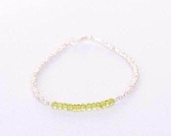 Peridot stacker bracelet