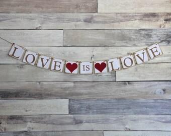 Love is Love Wedding Banner Decoration - engagement prop