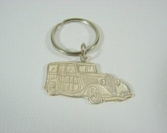 Ford Woody Keychain Hot Rod Keychain Sterling Silver 33 Ford Woody Hot Rod Rat Rod Keychain