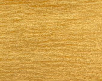 Cotton Gauze Yellow 52 Inch Fabric by the Yard, 1 yard