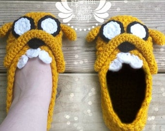 ANY SIZES Adventure Time Jake Inspired Slippers
